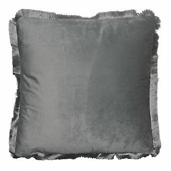 cushion 40 x 40 cm velvet grey