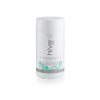 Hive Of Beauty Waxing Pre Cleansing Wipes Tea Tree & Lemon Oil Wipes - 100 Pk
