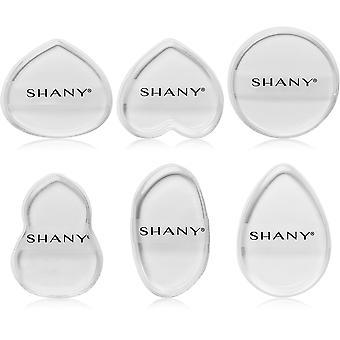 SHANY Transparent Silicon Gel Makeup Foundation Blender Svamp Klar Puff