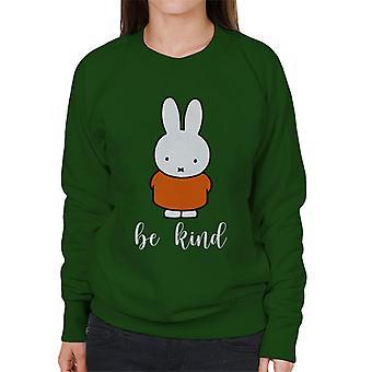 Miffy Be Kind Kvinnor & s Sweatshirt