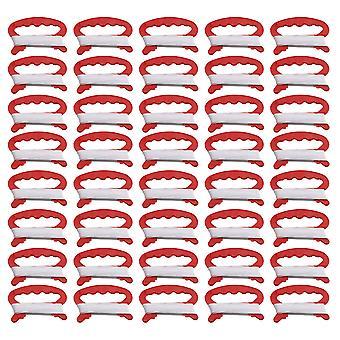 40Pieces Plastový létající drak line string s kite line deskou červená 30m