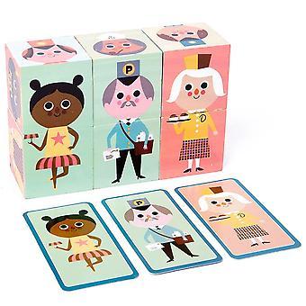 Puzzle Puzzle Baby Toy Drewniane Kostki Mecz Gra Dziecko Edukacyjne Nauka Zabawki Układanie Bloków