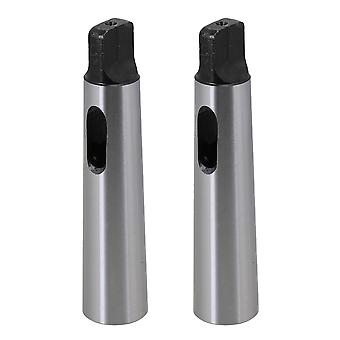 2PCS MT2 to MT3 Drill Sleeve Reducing Adapter MT2 to MT3 for Lathe Milling