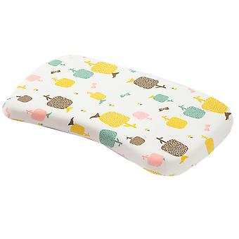Детская подушка для сна, подушка для формирования головы ребенка предотвращает синдром плоской головы, с ананасовым рисунком