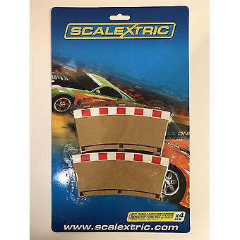 Scalextric C8281 رادوس 3 منحنى الحدود الداخلية × 4