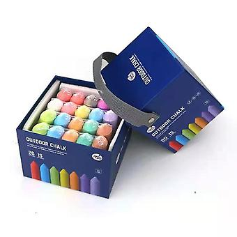City Sidewalk Chalk, 20 Pieces, 15 Different Colors, Graffiti, Painting, Non-toxic, Children's Day Gift