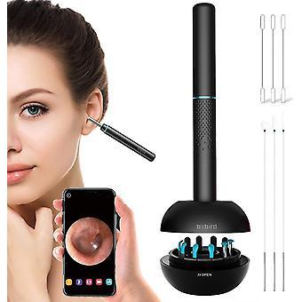 M9 Pro Ohrenschmalz Entfernungswerkzeug Smart Visual Ohr Otoskop Wireless Ohrkamera Ohrreiniger (Schwarz)