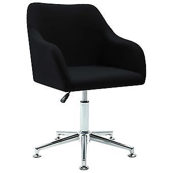 vidaXL bureau fauteuil pivotant noir tissu