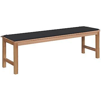 vidaXL garden bench with anthracite pad 150 cm solid wood teak