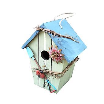 Houten Vogelhuis Chalet Vogeltuin Decoratie Hanger Ambachten Hangende Vogelhuisjes Voor Buitenkooien