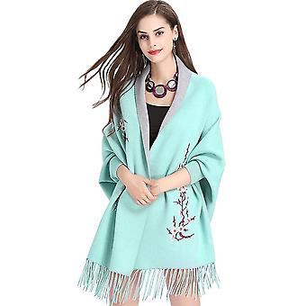 Elegant Cape Cardigan Sweater With Sleeves For Women