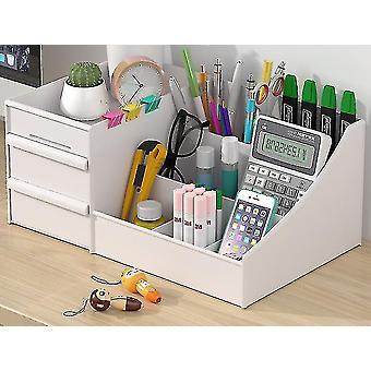 Kosmetiikka säilytyslaatikko laatikko tyyppi muovinen säilytysteline (valkoinen)