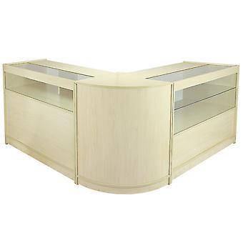 Retail Tellers Shop Display Cabinet Showcase Glazen Opslag Maple Planken Leo