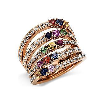 Луна Создание Promessa Кольцо Цвет Камень 1U080R853-1 - Ширина кольца: 53