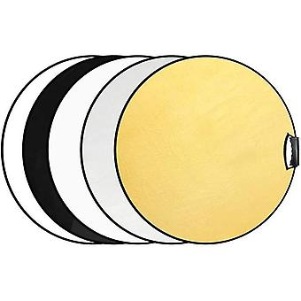 Selens 5-in-1 60cm Round Light Reflector Diffuser Kit Collapsible Portable with Handle Grip and