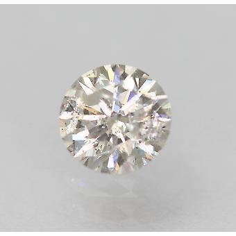 معتمد 0.36 قيراط G لون SI2 جولة رائعة الماس فضفاضة الطبيعية 4.57mm