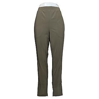 MarlaWynne Women's Pants Matte Jersey Slouched Pant w/ Pockets Green 664944