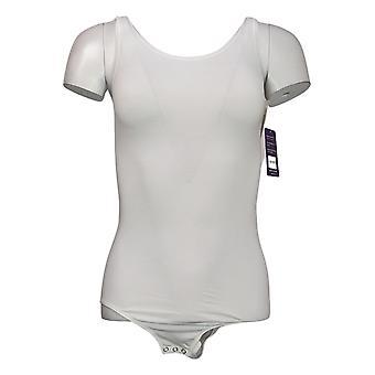 yummie Shaper M/L Sleeveless Bodysuit w/Snaps White 607672