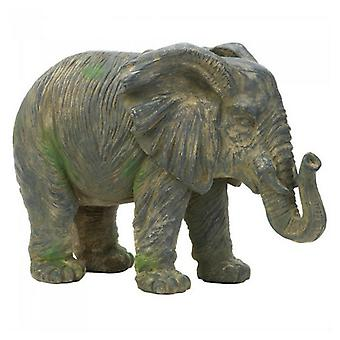Accent Plus Weathered-Look Iron Elephant Statue, Pack of 1