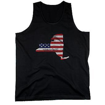 Débardeur New York drapeau américain réservoirs NY State USA Flag masculin