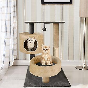 Cat Claw Sisal Scratcher Post Chaud Chaton Nid Lit Lounge Pad Avec Ball Toy
