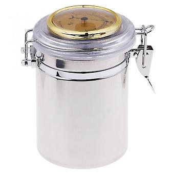 Stainless Steel Tobacco Storage Cigar Box With Lid Tobacco Storage Jar, Tobacco Storage Jar