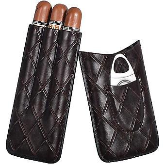 Portable Cigar Case With Cigar Cutter