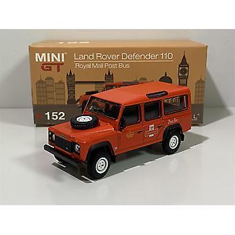 Land Rover Defender 10 Royal Mail Post Bus Red 1:64 MiniGT MGT00152MJ