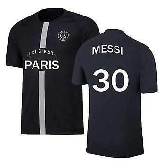 Mens Football Jersey Paris 2021-2022 Season #30 Messi Psg Jersey Away Soccer Jerseys Sports T-shirts Size S-xxxl