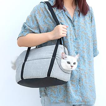 Kannettava kissa lemmikki kantolaukku Supplie Kissanpentu Pienet eläimet Käsilaukut Irrotettava pad ulkoilureppu