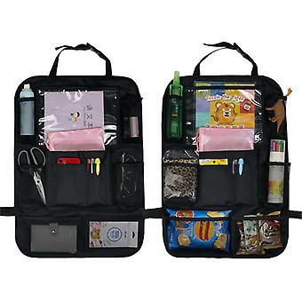 Evago 2pcs Backseat Bag Bilarrangør Kick Mats Backseat Oppbevaringsveske Med Klar Skjerm Tablet Holder Og 9 Oppbevaringslommer Sete RyggBeskyttere Med U