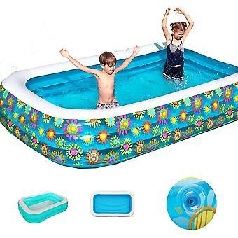 Piscine gonflable 290 X 175cm Enfants Adultes Baignoire d'été Bébé Utilisation à domicile Piscine gonflable pagayer