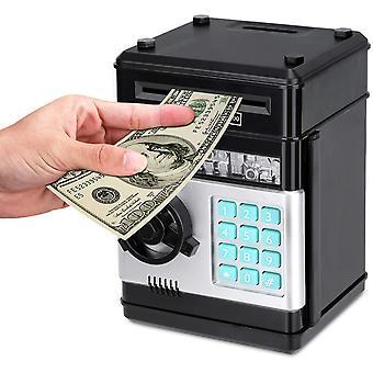 Cartoon elektronische atm wachtwoord spaarvarken geld munt kan auto scrollen papier geld spaarpot cadeau