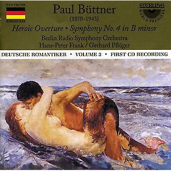 P. Buttner - Paul B Ttner: Heroic Overture; Symphony No. 4 [CD] USA import