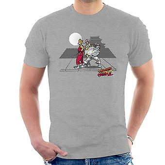 Cryogenic Fighter II Futurama Street Fighter Men's T-Shirt