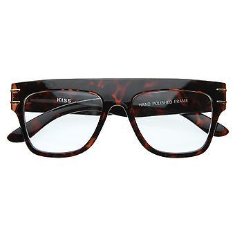 Старинный Европейский дизайнер вдохновил плоской вершиной рога оправе прозрачные линзы очки