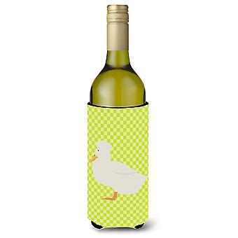 Crested ankka vihreä viinipullo Beverge eriste Hugger