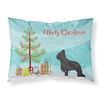 Briard Merry Christmas Tree Fabric Standard Pillowcase