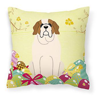 Easter Eggs Saint Bernard Fabric decoratieve kussen