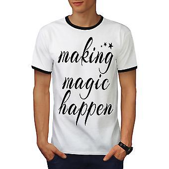 Machen Männer weiß geschehen / BlackRinger T-shirt | Wellcoda