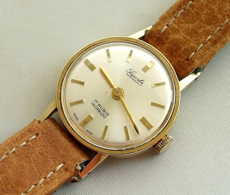 Yellow Gold Luperbe watch