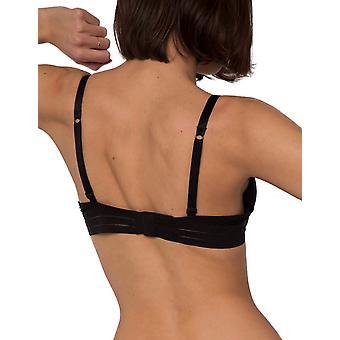 Maison Lejaby 171230-04 Women's Nufit Black Underwired T-Shirt Spacer Bra