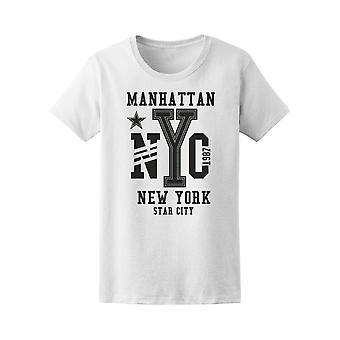 Manhattan Nyc New York Star City T-Shirt Women-Bild von Shutterstock
