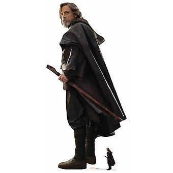 Luke Skywalker O Último Recorte de Papelão Jedi Lifesize / Standee