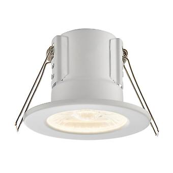Saxby escudo Eco 500 IP65 3000K de 4W regulable LED Downlight de la iluminación en blanco