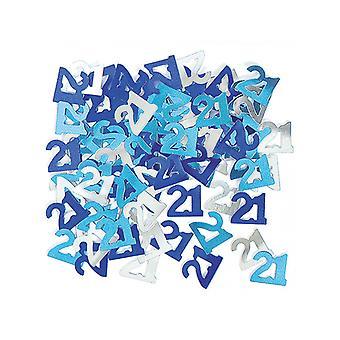 誕生日派手ブルー-21 誕生日紙吹雪