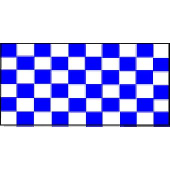 Check Blue And White Flag 5ft x 3ft With Eyelets For Hanging