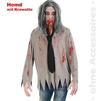 Zombie shirt mannen horror kostuum kostuum bloedige Halloween heren kostuum