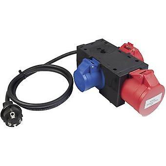 BENNING 044147 adaptor de plumb de testare mufă PG-conector CEE Cara, conector CEE roșu, albastru