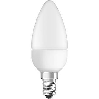 OSRAM LED (monochroom) EEC A+ (A++ - E) E14 Kaars 6 W = 40 W Warm wit (Ø x L) 38 mm x 105 mm dimbaar 1 pc(s)